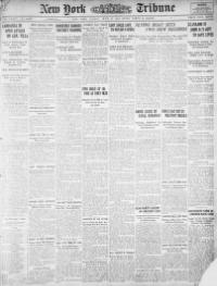 Front page of the New York Tribune, June 28, 1914