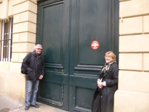 American Kathleen and her Irishman on rue de l'Odeon last week